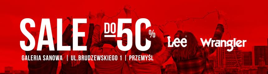 SALE do -50% LEE Wrangler - Galeria Sanowa, ul. Brudzewskiego 1, Przemyśl